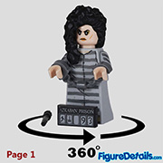 Bellatrix Lestrange Minifigure - Lego Collectible Minifigures Harry Potter Series 2 - 71028