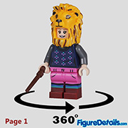 Luna Lovegood Minifigure - Lego Collectible Minifigures Harry Potter Series 2 - 71028